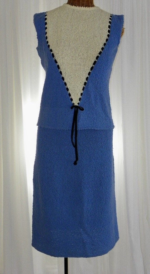 Wiggle Set Top/Skirt 1960s 2 Piece  Metal Zipper Classic Mad Men Style by Voila Vintage Lingerie
