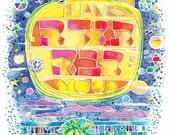 Todah Rabah/Thank You (Framed Print)