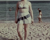 Digital Scan //Two Piece Swimsuit //Vintage Color Photo      1277