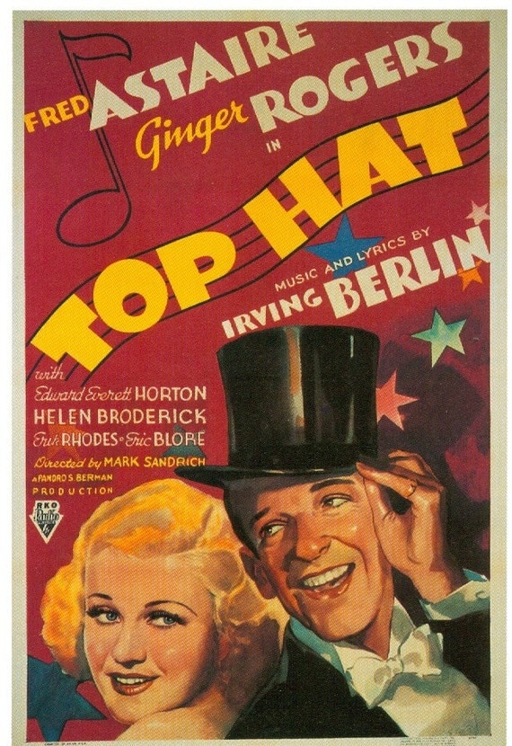 Magnet Top Hat movie poster  Astaire Rogers