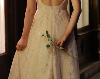 Unique bride, French wedding dress, Low back, Couture wedding, Lace gown, Lace wedding gown, Custom made dress