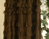 Mousse Au Chocolat jean skirt ruffled  tiered silk frou frou  frilly ultra femme French bohemian ballroom Renaissance Denim Couture