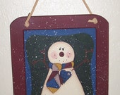 Snowman Slate Hanger - Holiday Decor Christmas