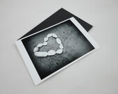 Art Photo Print Love Stones for Valentine's, Anniversary or Proposal Black and White Photography
