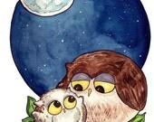 Owl Baby - 8 x 10 inch print