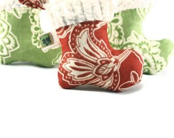 Organic Catnip Cat Toy Red Christmas Stocking