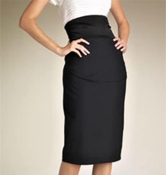 High waist pencil skirt   choose your size from 2 to 18 or your mesurments Made to Order