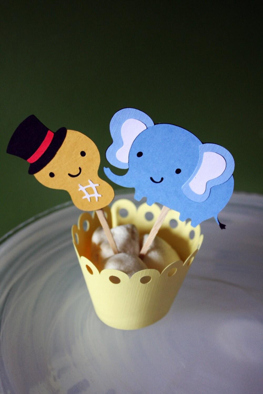 Circus elephant cake topper - photo#28