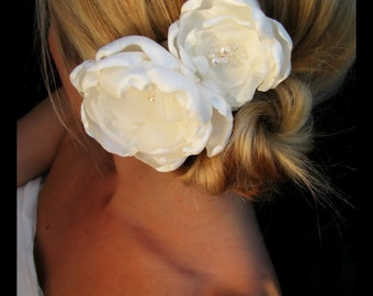 Maggie bridal wedding hair flowers, bridal hair accessories