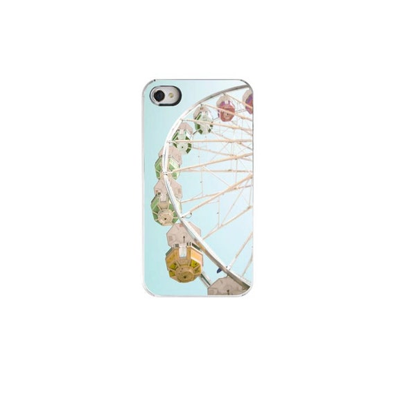 CLEARANCE,  Iphone 4 Case- Cute iPhone 4 Case, Blue iPhone Case,Ferris Wheel, Cute iPhone 4s Case,, Iphone 4s Case,