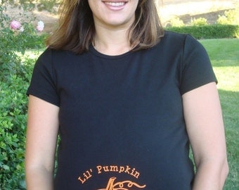Halloween custom Pumpkin Maternity shirt short or long sleeve