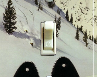 HEAD SKIS Vintage Ski Poster Switch Plate (single or double)  ***FREE Shipping***