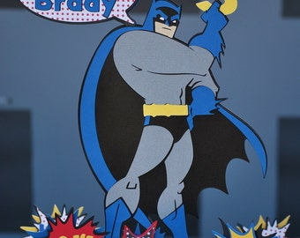 Batman Birthday Cake Topper Personalized (without cupcake toppers)