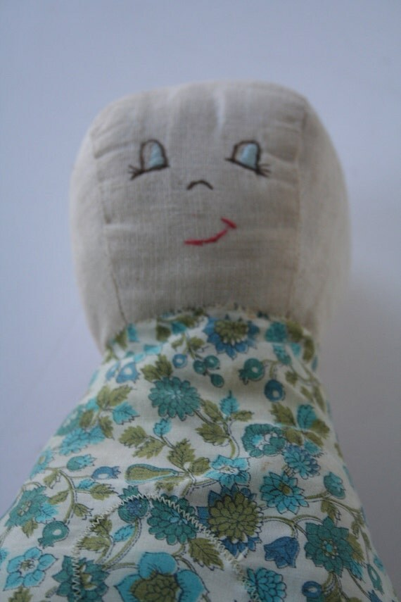 vintage doll pillow