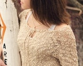 PDF KNITTING PATTERN file for Teen/Women's Summer Pullover or beach cover-up