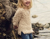 PDF KNITTING PATTERN file for Girls Summer Pullover or beach cover-up