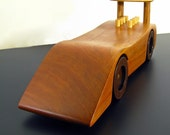 Classic Can Am Race Car in Solid Reclaimed Cherry and Walnut  -  Engraved Plate on Bottom of Car is Available