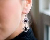 Garnet Filigree Earrings January birthstone