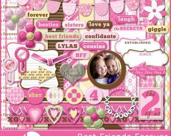 Best Friends Forever Digital Scrapbook Kit - Instant Download