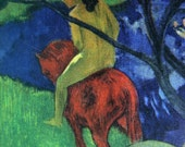 Gauguin postcard Le cheval blanc
