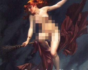 WITCH LIGHTSABER Female Nude Parody Print Sci Fi Horror Faler Mature