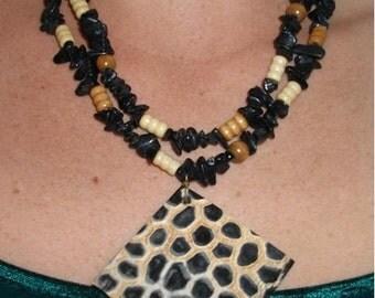 Jungle Print Necklace