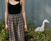 Vintage 1980s Plaid Skirt