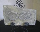 French Baroque Look - Faux Stone Sculpture - Original Art - Oil on Cement Foam Piece