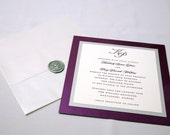 Sealed with a Kiss - Square Wedding Invitation Set