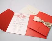 The Ties That Bind - Wedding Invitation