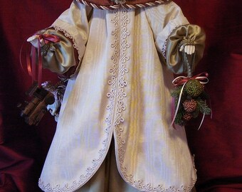 "Victorian Santa Claus Designer Art Doll 31"" Tall Santa Christmas Decor Home Decor OOAK"