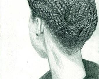 Natural Hair - Self Portrait Print (8 x 10) - My Twists