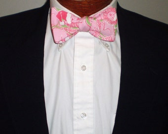 Lilly Pulitzer Christmas Self-tie Bow Tie or Regular Neck Tie