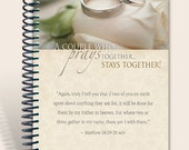 Mothers Day SALE •• Prayer Journal Personalized - Praying Couple - Matthew 18:19
