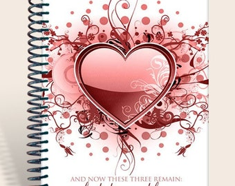 Journal / Personalized Gift / Prayer Notebook - 1 Corinthians 13 Love/
