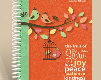 Journal / Notebook / Prayer Journal Personalized - Fruit of the Spirit - Galations 5/