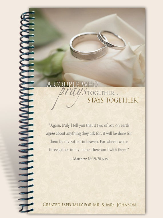 Prayer Journal Personalized - Praying Couple - Matthew 18:19