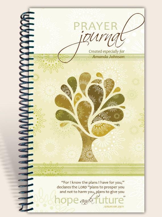 Journal Notebook / Prayer Journal Personalized - Vintage Tree - Jeremiah 29:11/