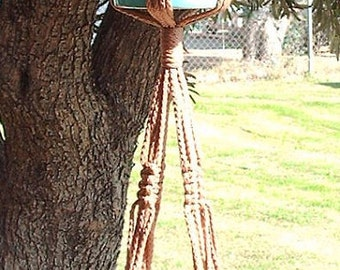 Macrame Plant Hanger 2-TIER 4mm  38in Cinnamon