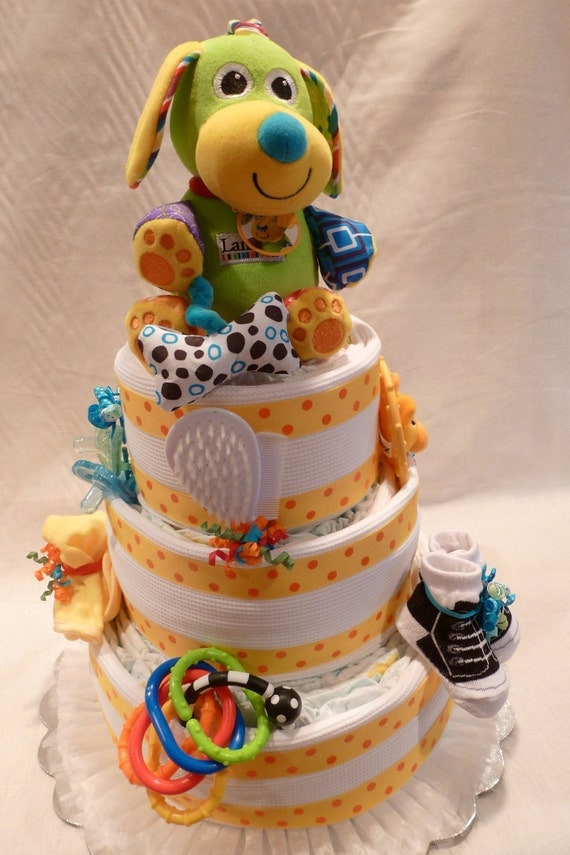 DEBI'S DOINGS 3 Tier Diaper Cake Pattern- 10 Page, Color Illustrated, Step by Step Instructions.