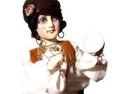 Gypsy Boudoir Doll OOAK Cloth Art Doll