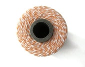 Peach Bakers Twine - Twinery Cantaloupe & White Striped - Scrapbooking - Crafts - DIY Invitation Wrapping String - 240 Yards Full Spool Cord