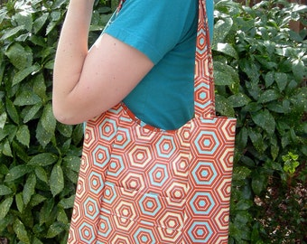 Sun Kissed Orange Blossom Laminated Tote