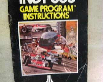 Vintage Atari Indy 500 Game Program Instructions