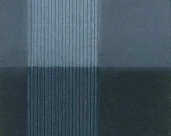 blue geometric drawing and collage, Half & Half
