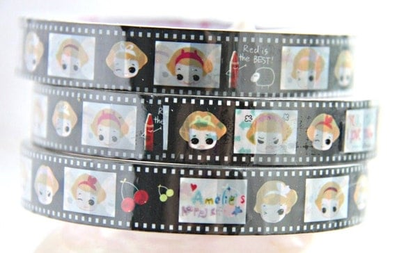 SALE 30% off Girl expression Deco Tape adhesive Stickers DT285