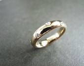 Final - Custom Order - Diamond Wedding Ring in 18K Yellow Gold