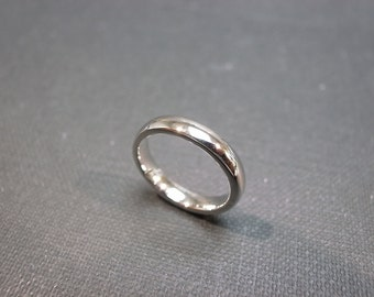 3mm Comfort Fit Wedding Ring in 14K White Gold