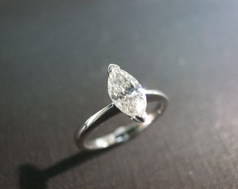Marquise Engagement Ring, Marquise Ring, Marquise Diamond Ring, Marquise Cut Engagement Ring, Marquise Diamond Engagement Ring in Platinum