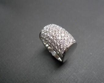 Diamond Ring, Mens Ring in 14K White Gold, Men's Diamond Ring, Diamond Band, Big Rings, Diamond Wedding Ring, Diamond Wedding Band, Gift